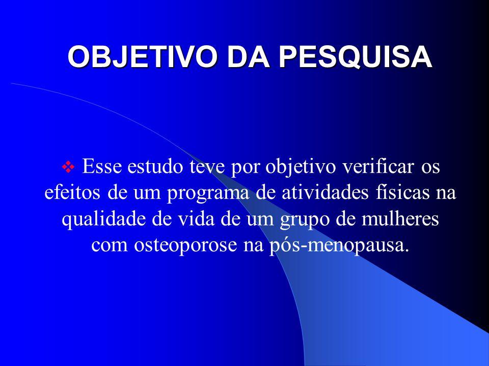 OBJETIVO DA PESQUISA
