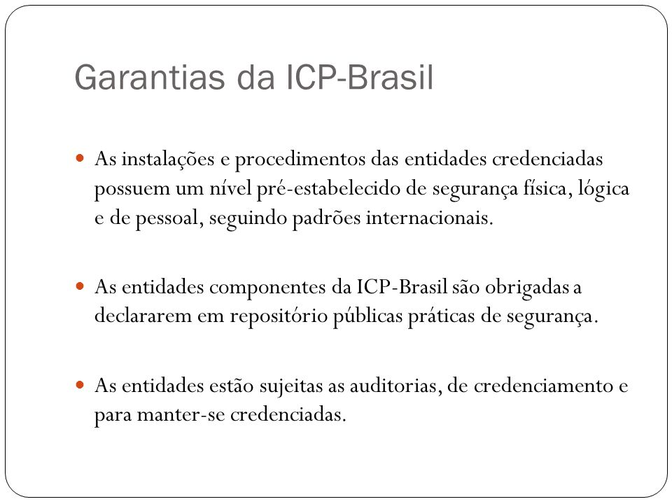 Garantias da ICP-Brasil
