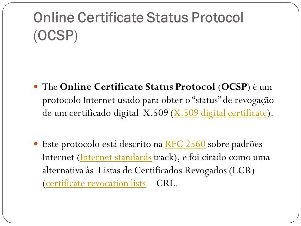 Online Certificate Status Protocol (OCSP)