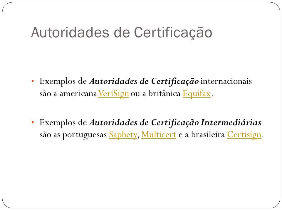 Autoridades de Certificação