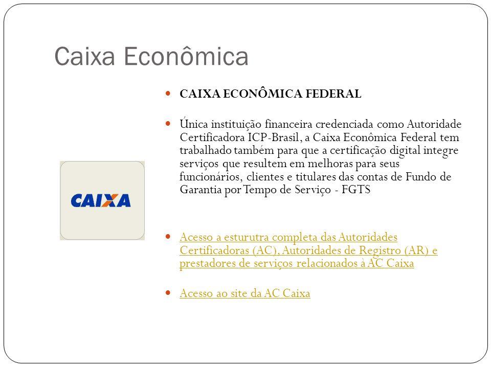 Caixa Econômica CAIXA ECONÔMICA FEDERAL