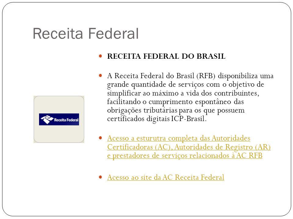 Receita Federal RECEITA FEDERAL DO BRASIL