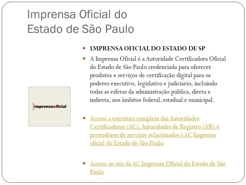 Imprensa Oficial do Estado de São Paulo