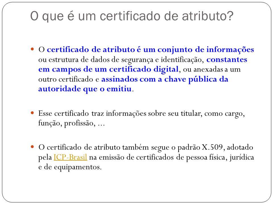 O que é um certificado de atributo