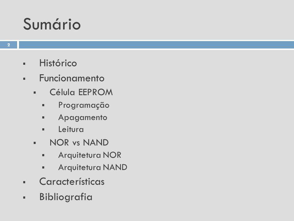 Sumário Histórico Funcionamento Características Bibliografia