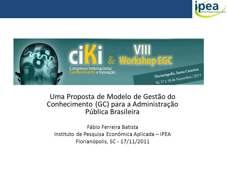 Uma Proposta de Modelo de Gestão do Conhecimento (GC) para a Administração Pública Brasileira