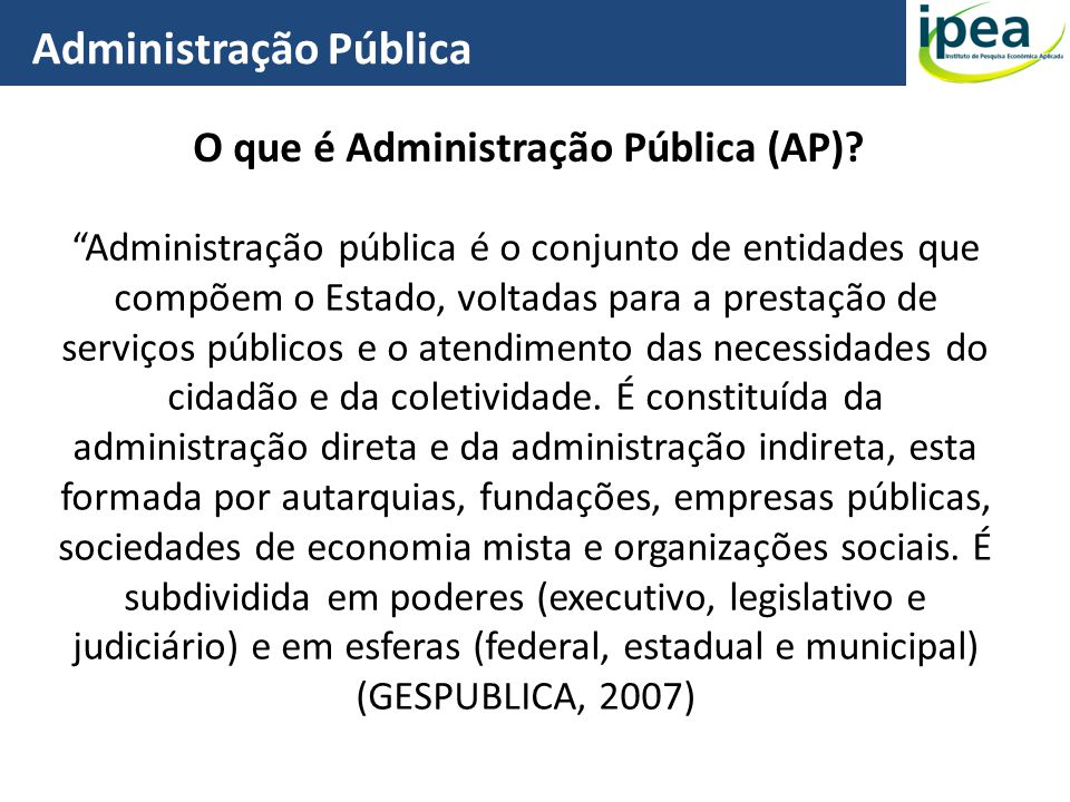 O que é Administração Pública (AP)