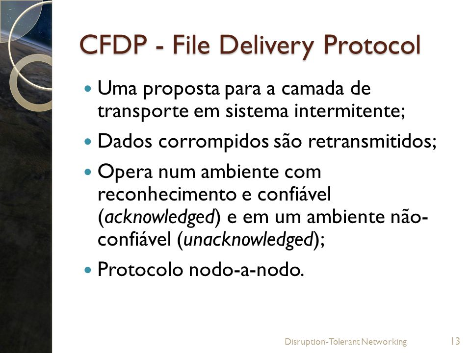 CFDP - File Delivery Protocol