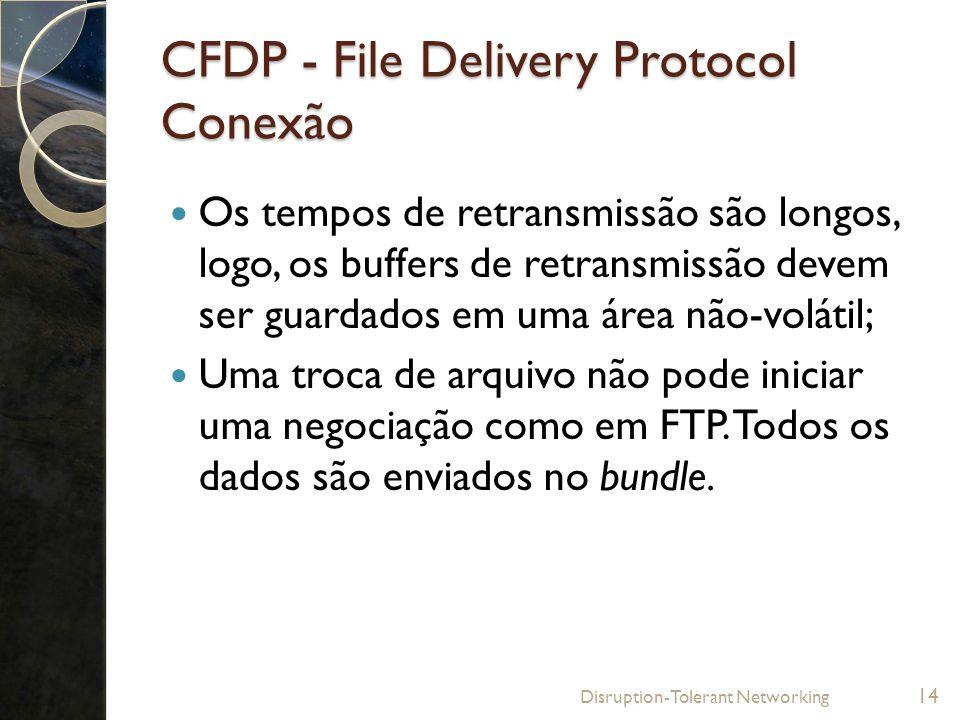 CFDP - File Delivery Protocol Conexão