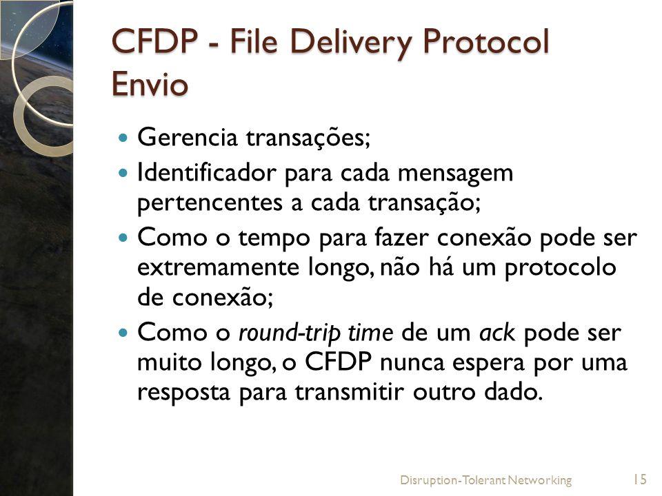 CFDP - File Delivery Protocol Envio