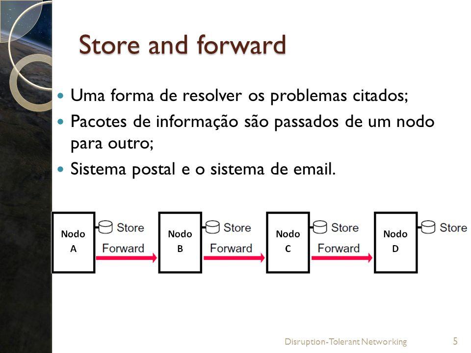 Store and forward Uma forma de resolver os problemas citados;