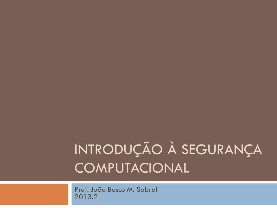 Introdução à Segurança Computacional