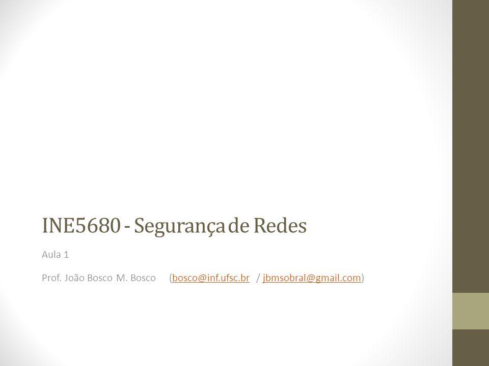 INE5680 - Segurança de Redes