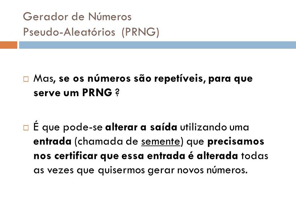 Gerador de Números Pseudo-Aleatórios (PRNG)