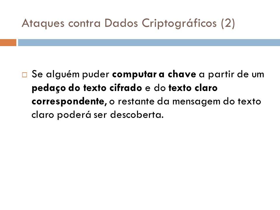 Ataques contra Dados Criptográficos (2)