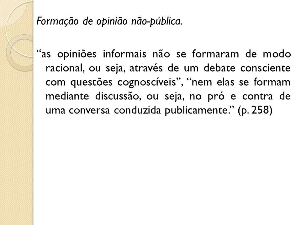 Formação de opinião não-pública