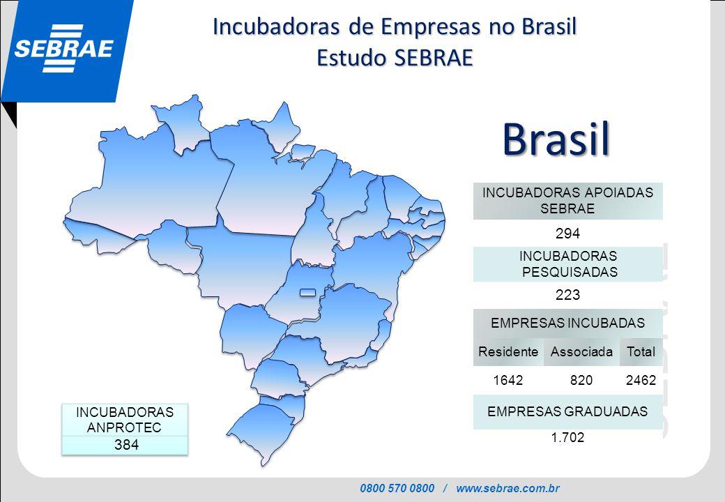 Incubadoras de Empresas no Brasil