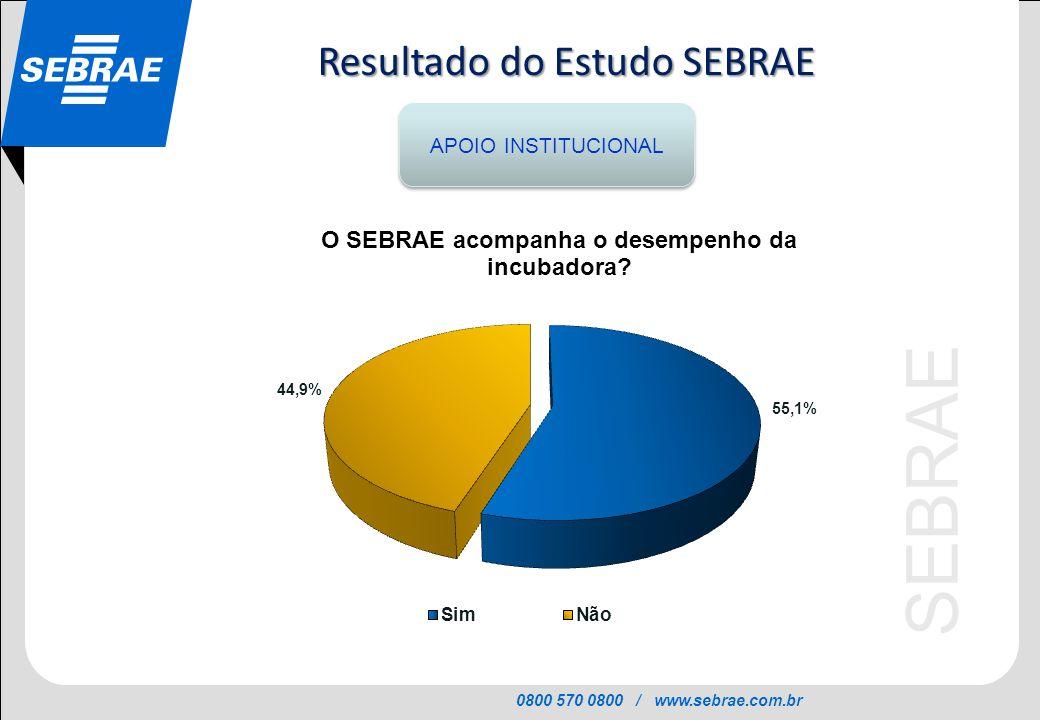 Resultado do Estudo SEBRAE