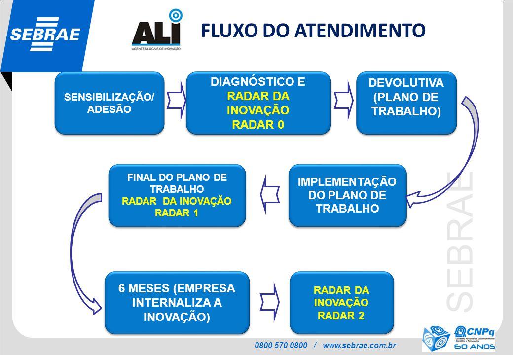 FLUXO DO ATENDIMENTO DIAGNÓSTICO E RADAR DA INOVAÇÃO DEVOLUTIVA