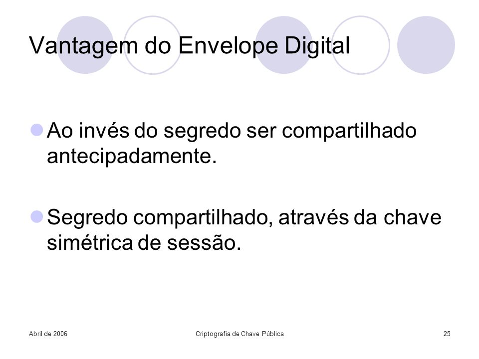 Vantagem do Envelope Digital