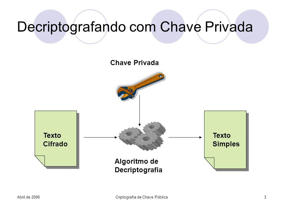 Decriptografando com Chave Privada