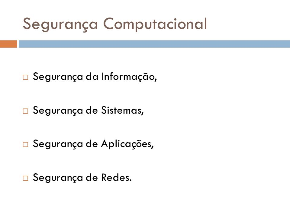 Segurança Computacional