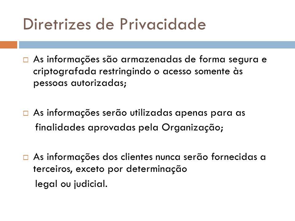 Diretrizes de Privacidade