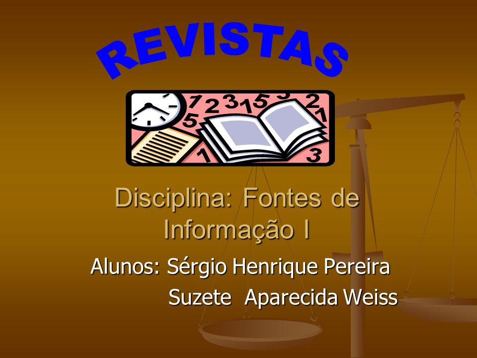 Disciplina: Fontes de Informação I