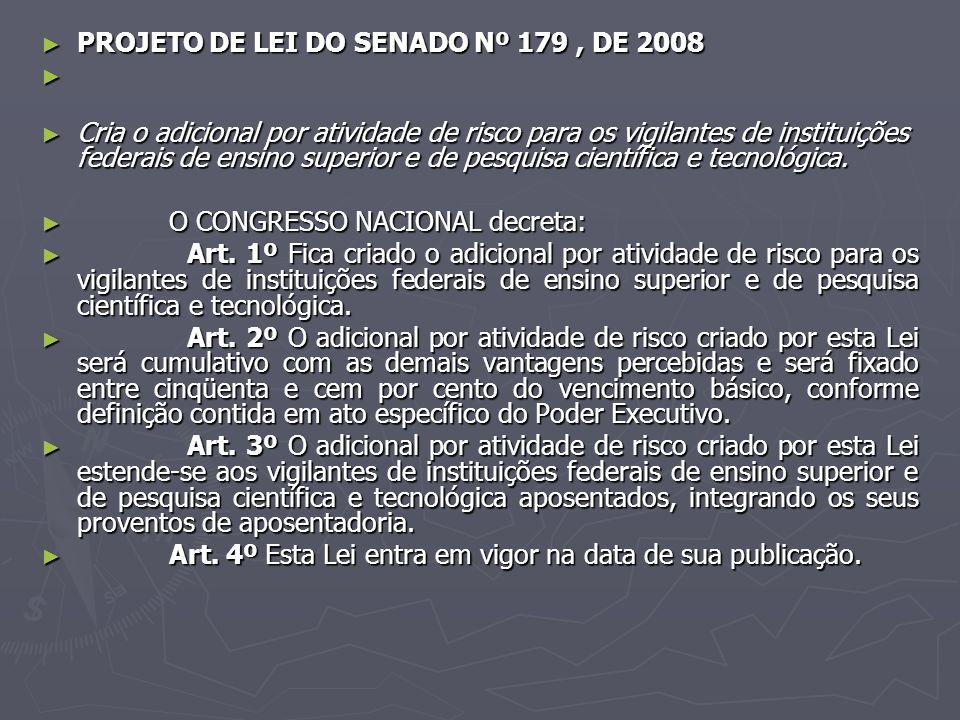 PROJETO DE LEI DO SENADO Nº 179 , DE 2008