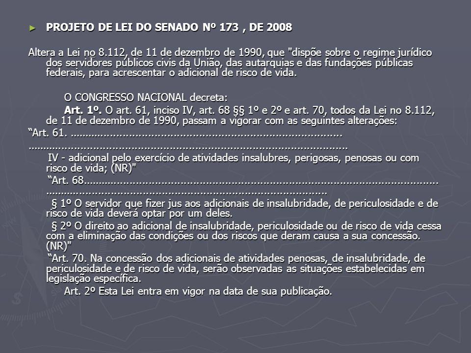 PROJETO DE LEI DO SENADO Nº 173 , DE 2008