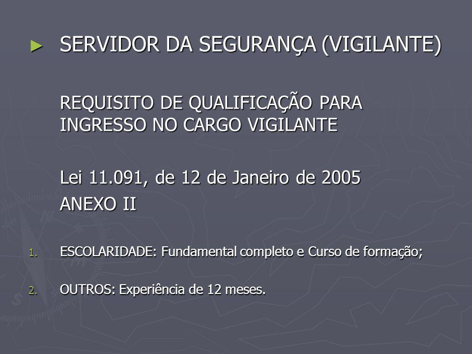 SERVIDOR DA SEGURANÇA (VIGILANTE)