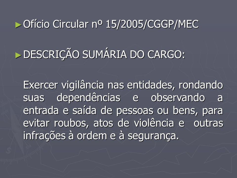 Ofício Circular nº 15/2005/CGGP/MEC