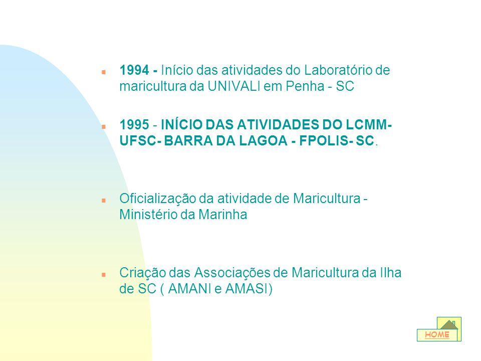 Oficialização da atividade de Maricultura - Ministério da Marinha