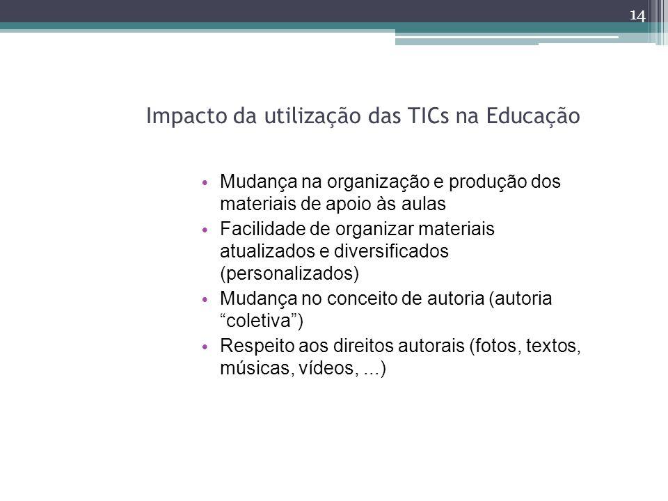 Impacto da utilização das TICs na Educação