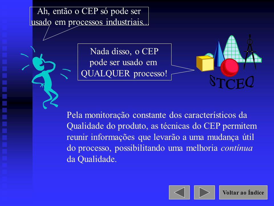 STCEQ Ah, então o CEP só pode ser usado em processos industriais...