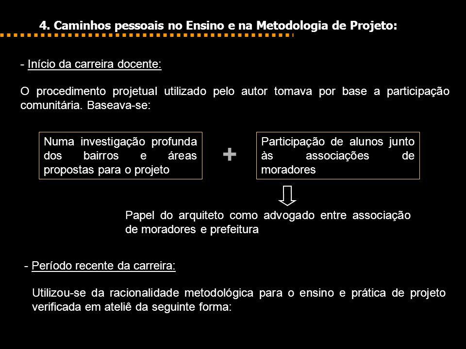 + 4. Caminhos pessoais no Ensino e na Metodologia de Projeto:
