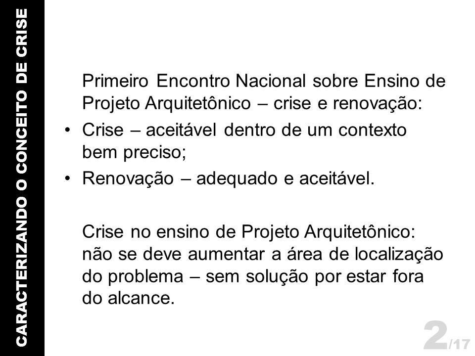 CARACTERIZANDO O CONCEITO DE CRISE