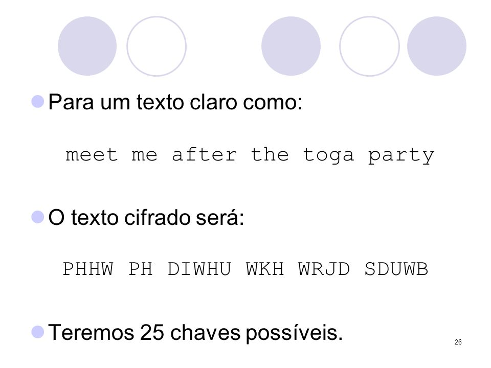Para um texto claro como: meet me after the toga party