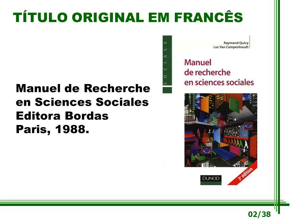 TÍTULO ORIGINAL EM FRANCÊS