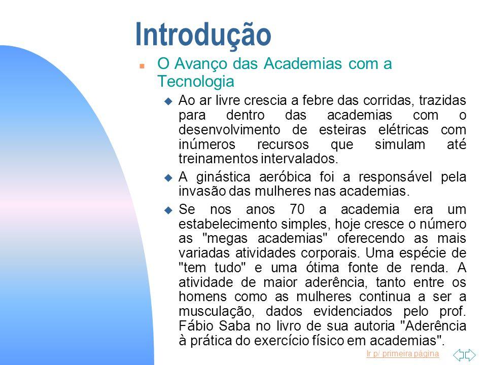 Introdução O Avanço das Academias com a Tecnologia