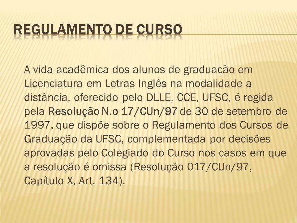 REGULAMENTO DE CURSO
