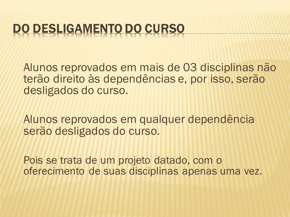 DO DESLIGAMENTO DO CURSO