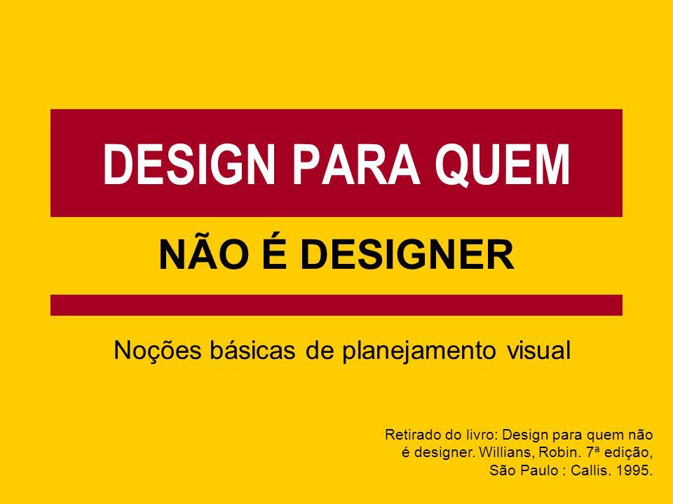 Noções básicas de planejamento visual