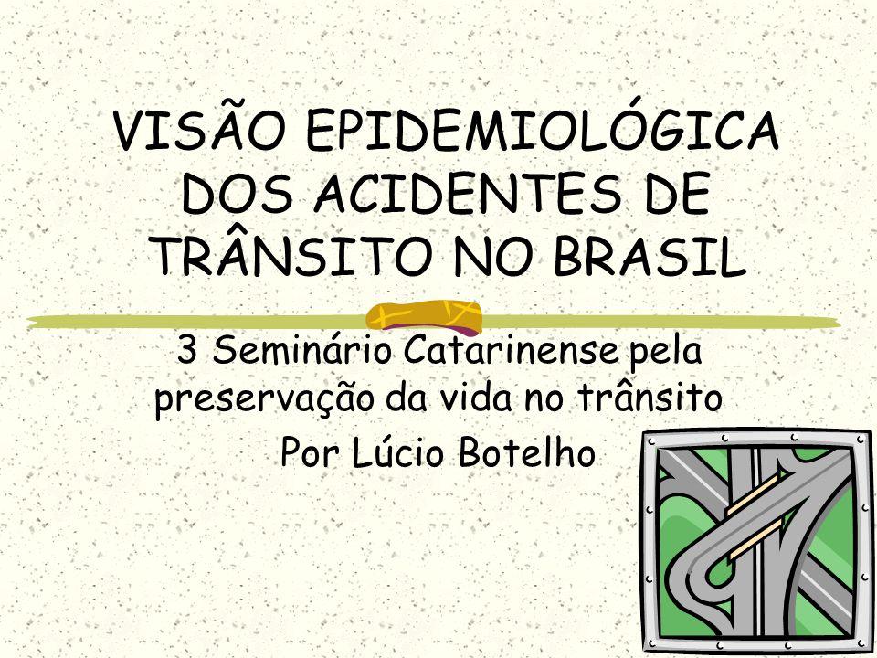VISÃO EPIDEMIOLÓGICA DOS ACIDENTES DE TRÂNSITO NO BRASIL