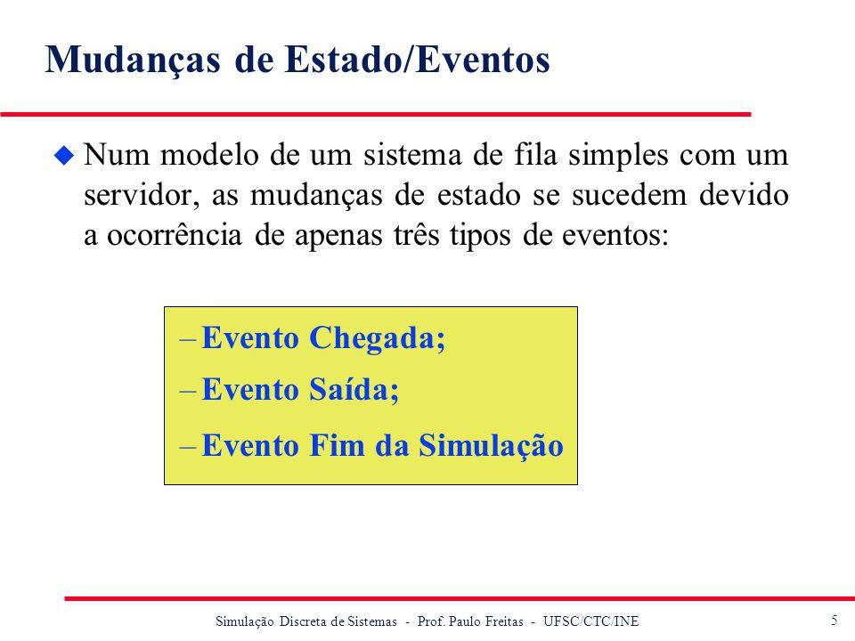 Mudanças de Estado/Eventos