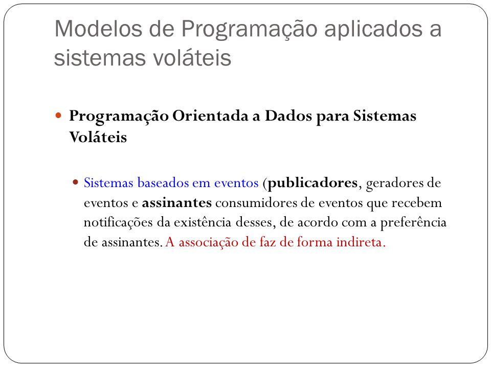 Modelos de Programação aplicados a sistemas voláteis