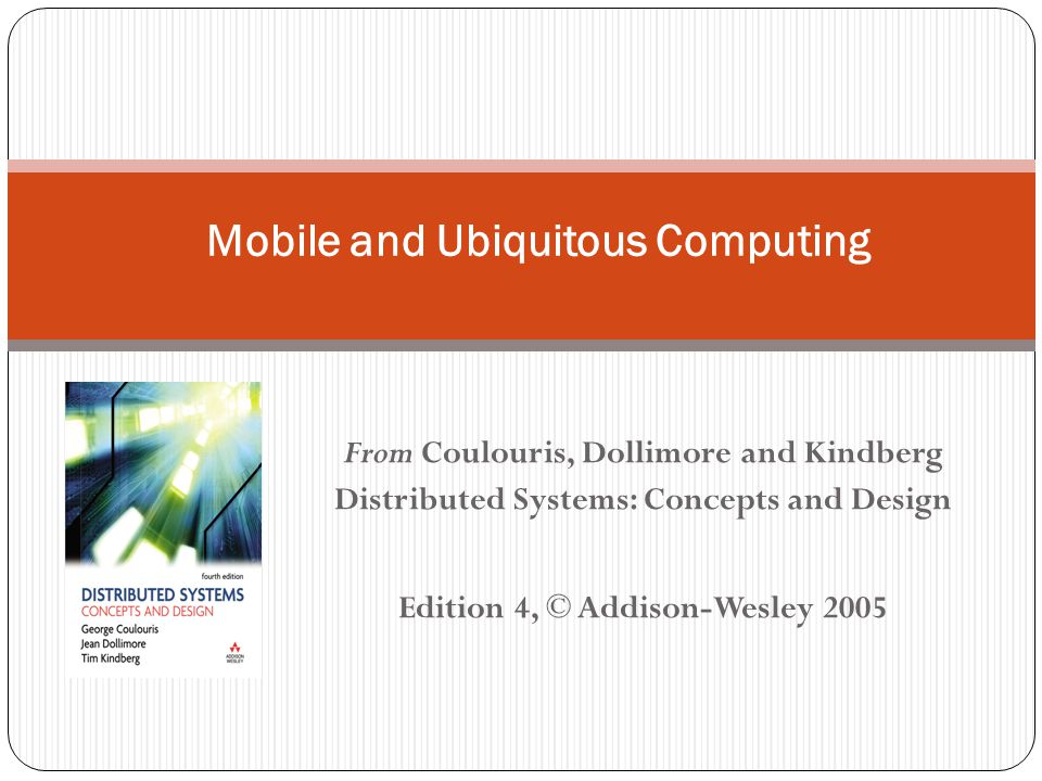 Mobile and Ubiquitous Computing