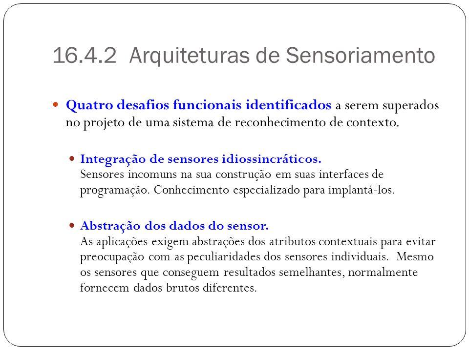 16.4.2 Arquiteturas de Sensoriamento