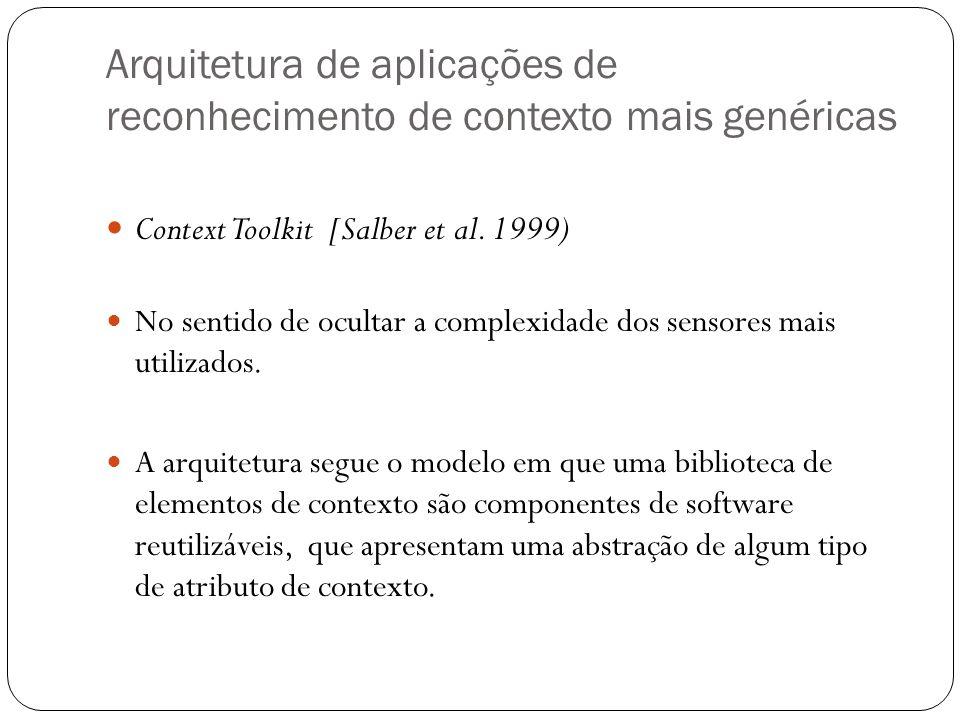 Arquitetura de aplicações de reconhecimento de contexto mais genéricas