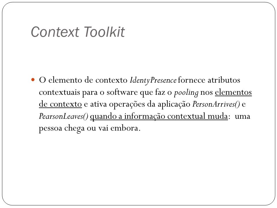 Context Toolkit